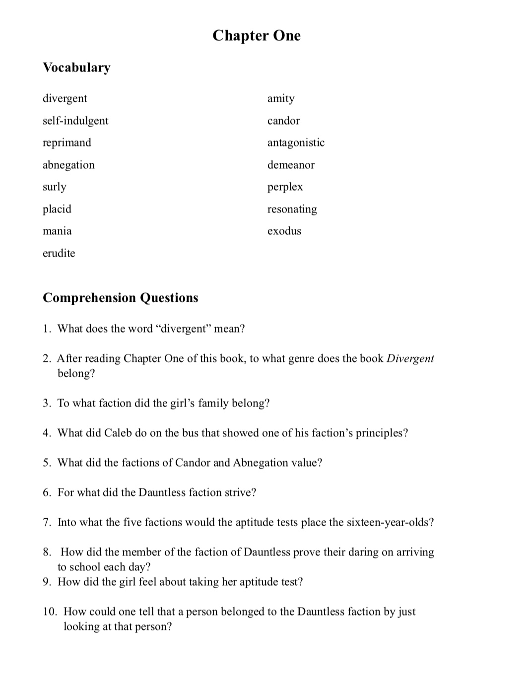 Some teachers use these worksheets in conjunction with the blank multi-use  worksheets also provided. This student's guide matches the teacher's guide.